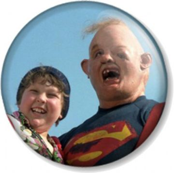 Goonies Chunk and Sloth Pinback Button Badge Cult Movie Retro Truffle Shuffle